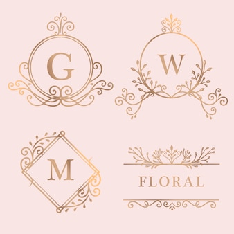 Złota kolekcja logo w ramkach