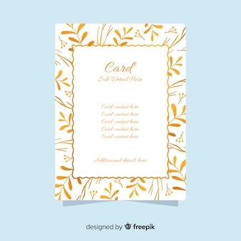 Złote karty kwiatowy