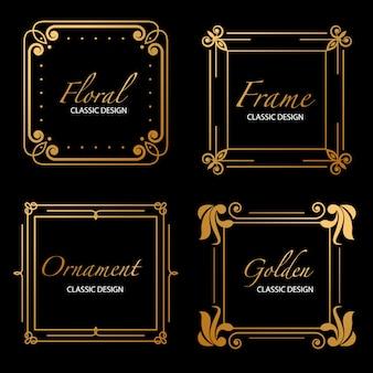 Złote luksusowe ramki