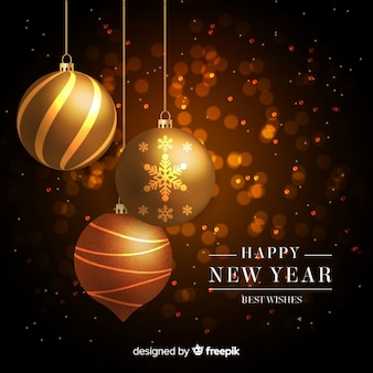 Złoty nowego roku 2019 tło