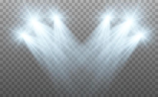 Z ilustracją reflektorów