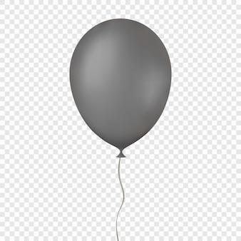 Z latającym balonem nad przezroczystym