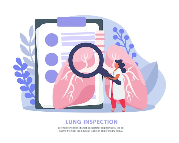 Z lekarzem wykonującym badanie płuc