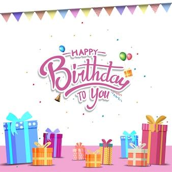 Z okazji urodzin projekt karty tło, baner i zaproszenie