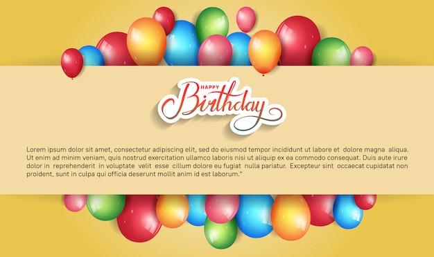 Z okazji urodzin projekt transparentu, plakatu, zaproszenia z kolorowym elementem urodzinowym