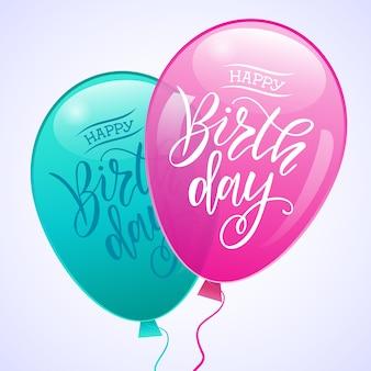 Z okazji urodzin projekt typografii z kolorowych balonów