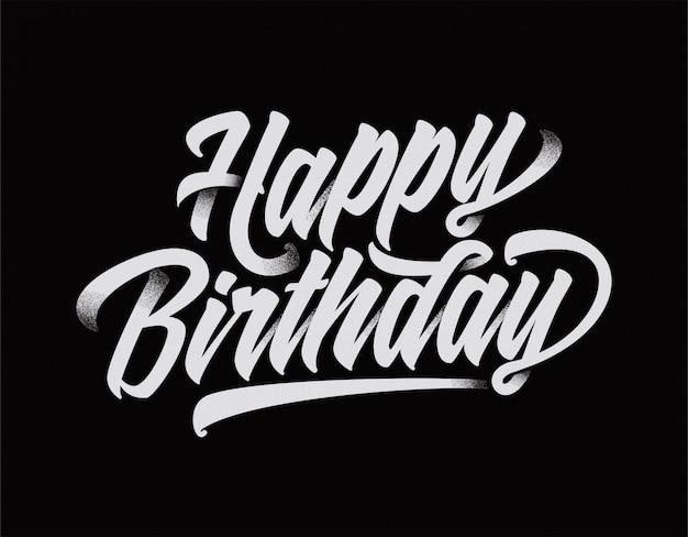 Z okazji urodzin tekst typografia fajny design