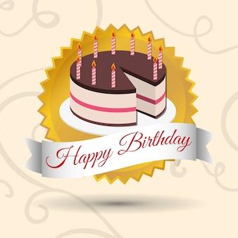 Z okazji urodzin tort świece pieczęć