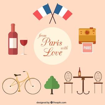 Z Paryża z wyrazami miłości