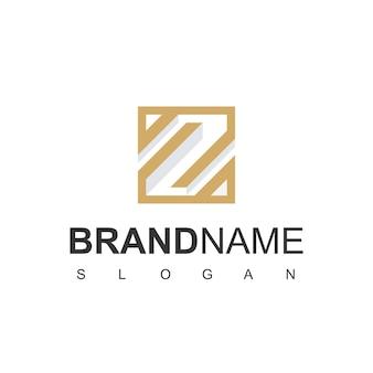 Z złoty kolor początkowe logo wektor szablon projektu