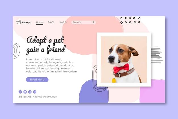 Zaadoptuj stronę docelową dla zwierząt domowych