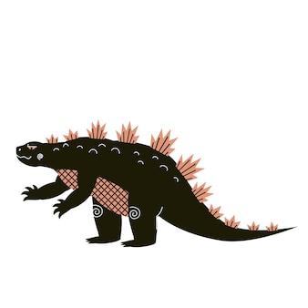 Zaatakuj gigantyczny wektor gadów. potwór w mieście. dinozaur clipart