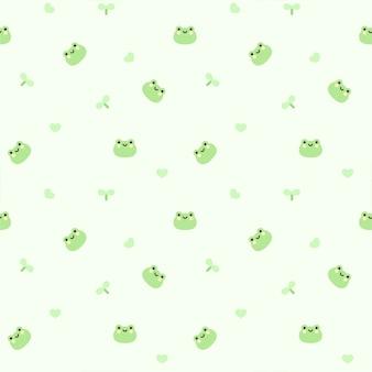 Żaba bezszwowe tło wzór