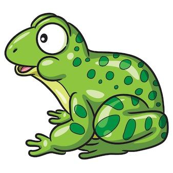 Żaba śliczna kreskówka