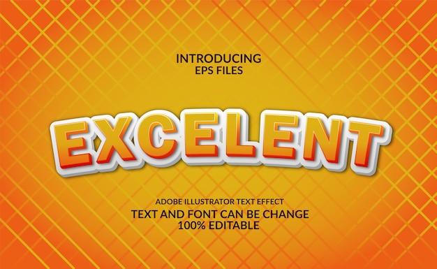 Zabawa i kreskówka 3d wytłoczenie żółty tekst. edytowalny efekt czcionki i stylu tekstu.