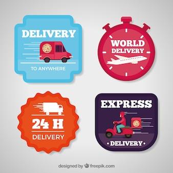 Zabawa różnorodność etykiet dostawczych