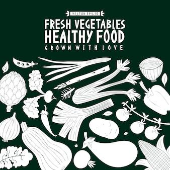 Zabawa wyciągnąć rękę szablon projektu warzyw.