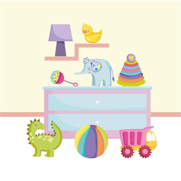 Zabawki meble pokój ciężarówka z piłeczkami