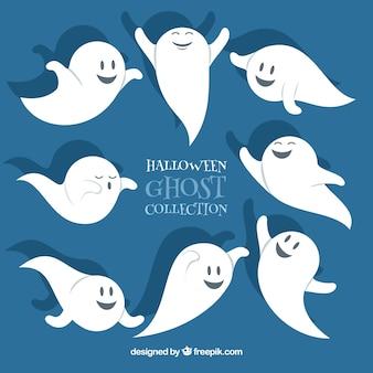 Zabawna halloween ręcznie rysowane duchy