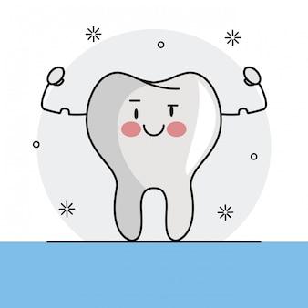 Zabawna kreskówka ząb