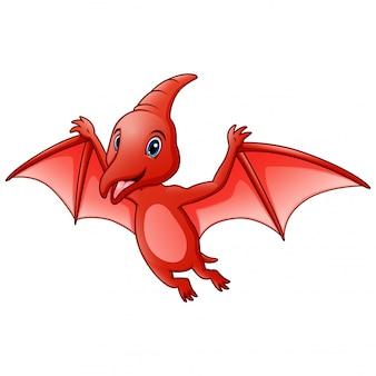 Zabawna kreskówka zwierząt pterodaktyla