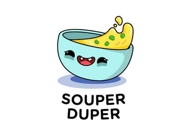 Zabawna miska do zupy
