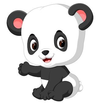 Zabawna panda kreskówki