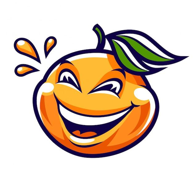 Zabawna postać z kreskówki mandarynki