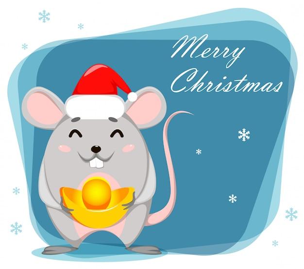 Zabawna postać z kreskówki szczur. ilustracji wektorowych