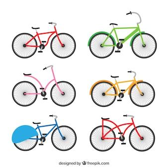 Zabawna varitey płaskich rowerów