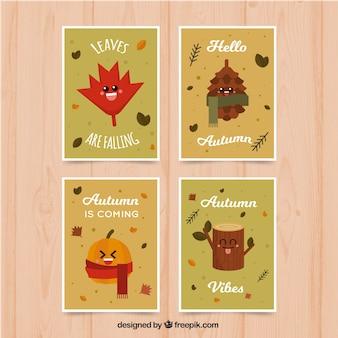 Zabawne karty jesienią