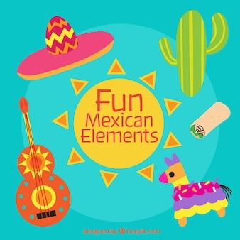 Zabawne meksykańskie elementy