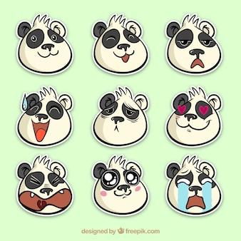 Zabawne opakowanie naklejek z pandy