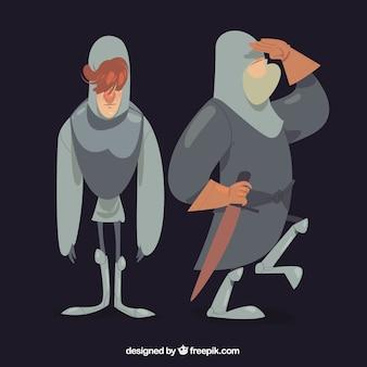 Zabawne opakowanie rąk rycerzy