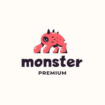 Zabawne proste logo potwora