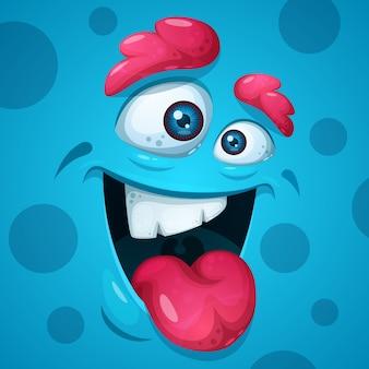 Zabawne, słodkie, zwariowane postacie potworów. halloweenowa ilustracja