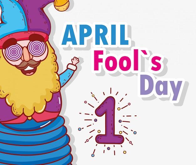 Zabawny błazen na kwiecień, dzień głupców