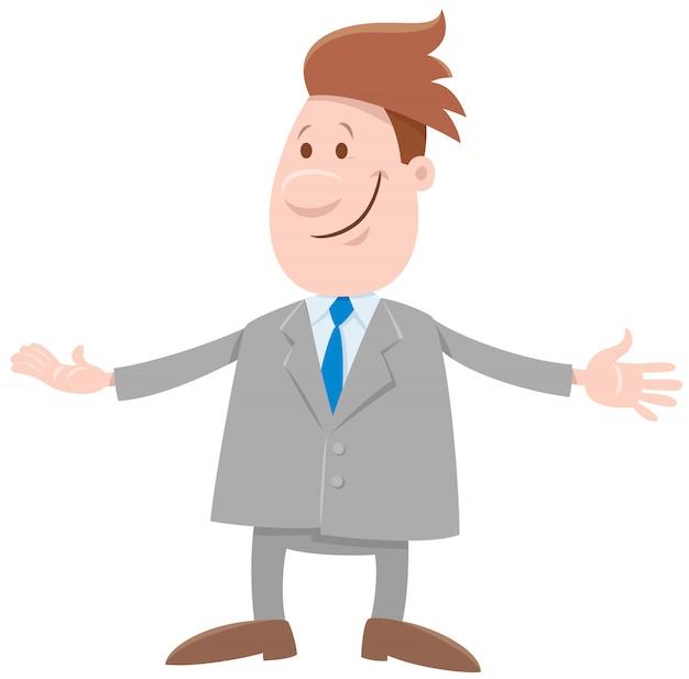 Zabawny człowiek lub biznesmen kreskówka komiks