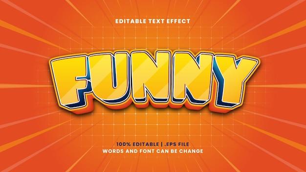 Zabawny edytowalny efekt tekstowy w nowoczesnym stylu 3d