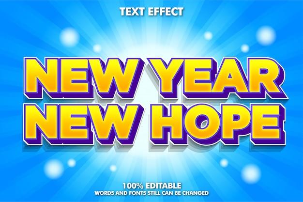 Zabawny efekt nowoczesnej czcionki, cytat nowego roku