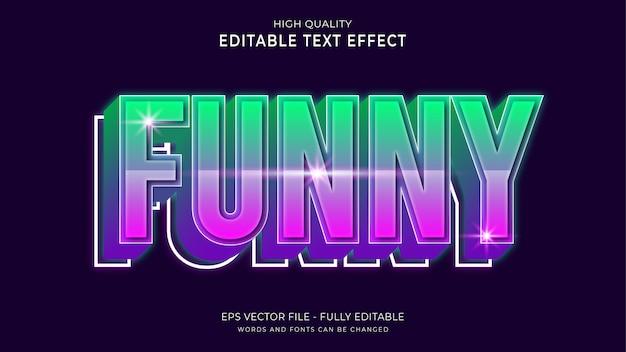 Zabawny efekt tekstowy, edytowalny efekt stylu kreskówkowego tekstu.