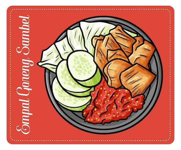"""Zabawny i pyszny """"empal goreng sambel"""", tradycyjna kuchnia wołowa z centrum jawy w indonezji"""