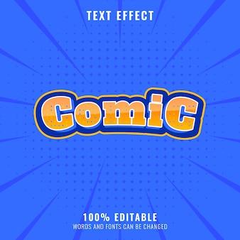Zabawny komiks edytowalny efekt tekstowy z projektem półtonów