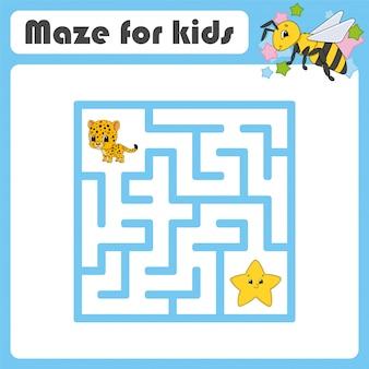 Zabawny labirynt. gra dla dzieci. puzzle dla dzieci.