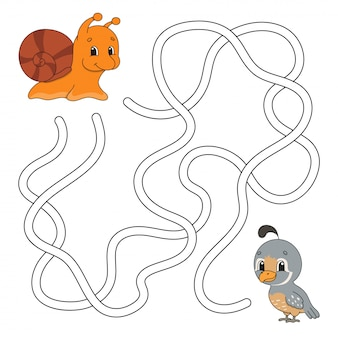 Zabawny labirynt ze zwierzętami