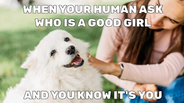 Zabawny mem dobrej dziewczyny