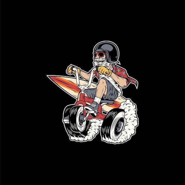 Zabawny projekt maskotki rowerowej