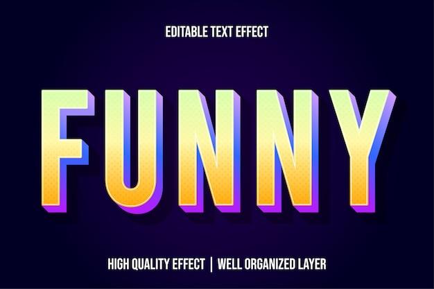 Zabawny styl edytowalny żółty efekt tekstowy