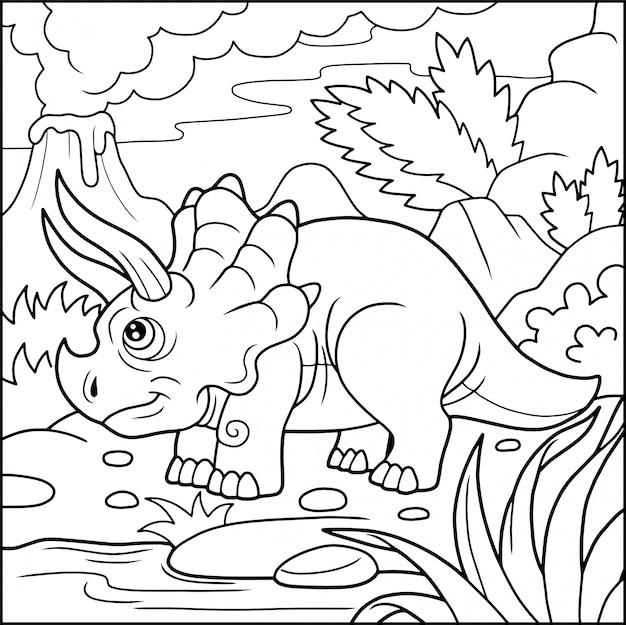 Zabawny triceratops