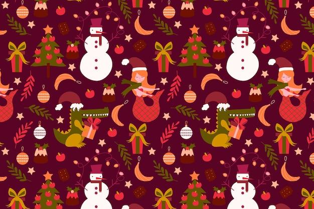 Zabawny wzór świąteczny